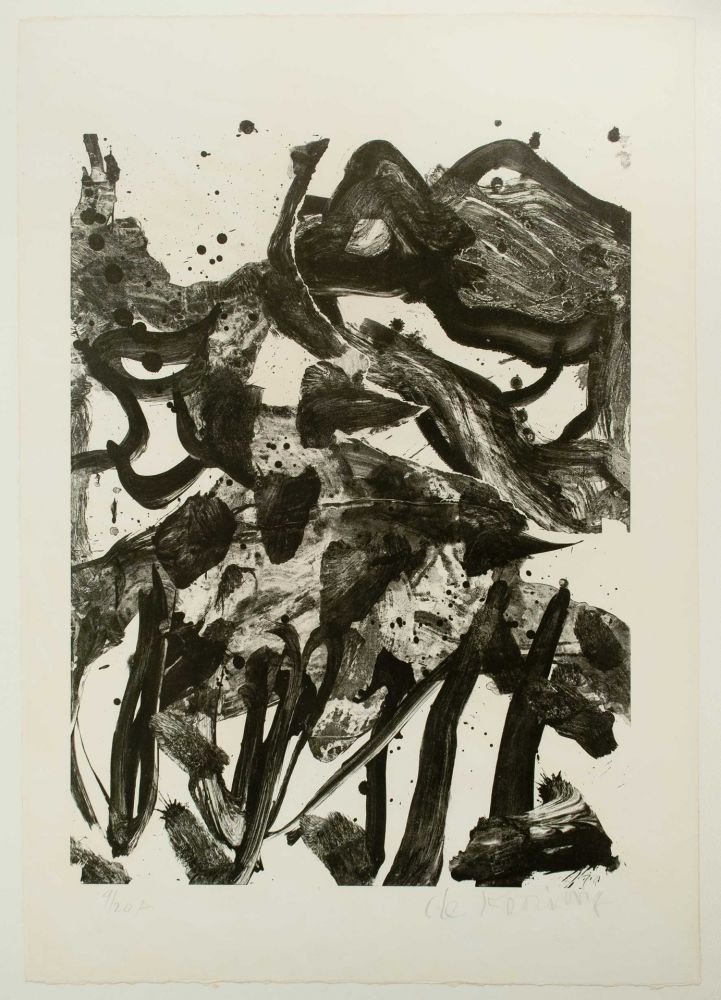 Lithographie De Kooning - The Marshes