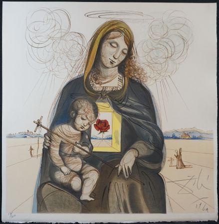 Lithographie Dali - The Mystical Rose Madonna