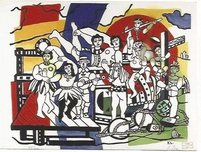 Lithographie Leger - The Parade