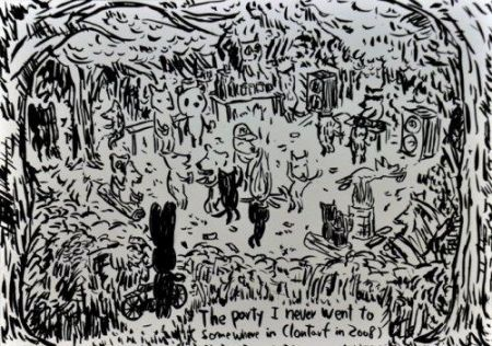 Lithographie Kaga - The party I never went to...