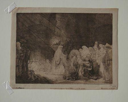 Stich Rembrandt - The Presentation in The Temple