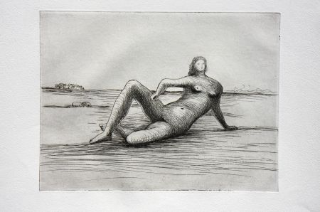 Stich Moore - The Reclining Figure (Plate 4)