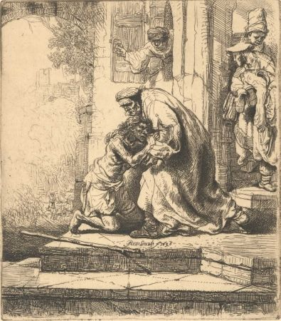 Stich Rembrandt - The Return of the Prodigal Son