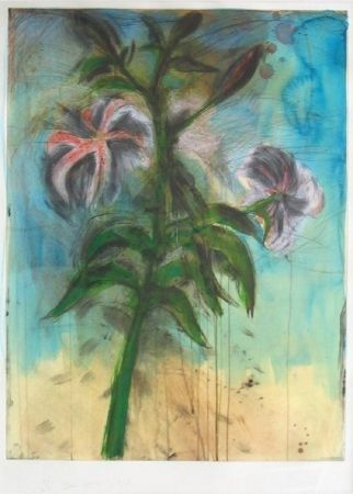 Intaglio Dine - The Sky and Lilies