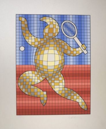 Multiple Vasarely - The Tennis Player