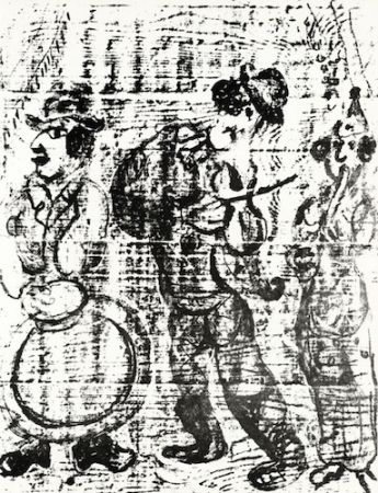 Lithographie Chagall - The Wandering Musicians