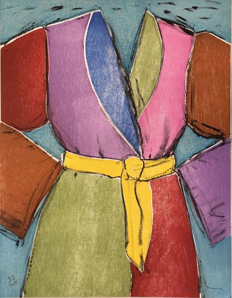 Holzschnitt Dine - The Yellow Belt