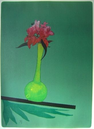 Lithographie Wunderlich - The yellow vase