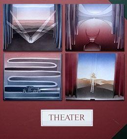 Radierung Und Aquatinta Folon - THEATER - THEATRE (complet suite)