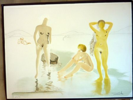 Kaltnadelradierung Dali - Three Graces Of Cova D'or