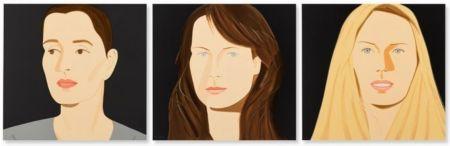 Lithographie Katz - Three Portraits (Sarah, Vivien, Sophia)