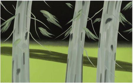 Siebdruck Katz - Three Trees