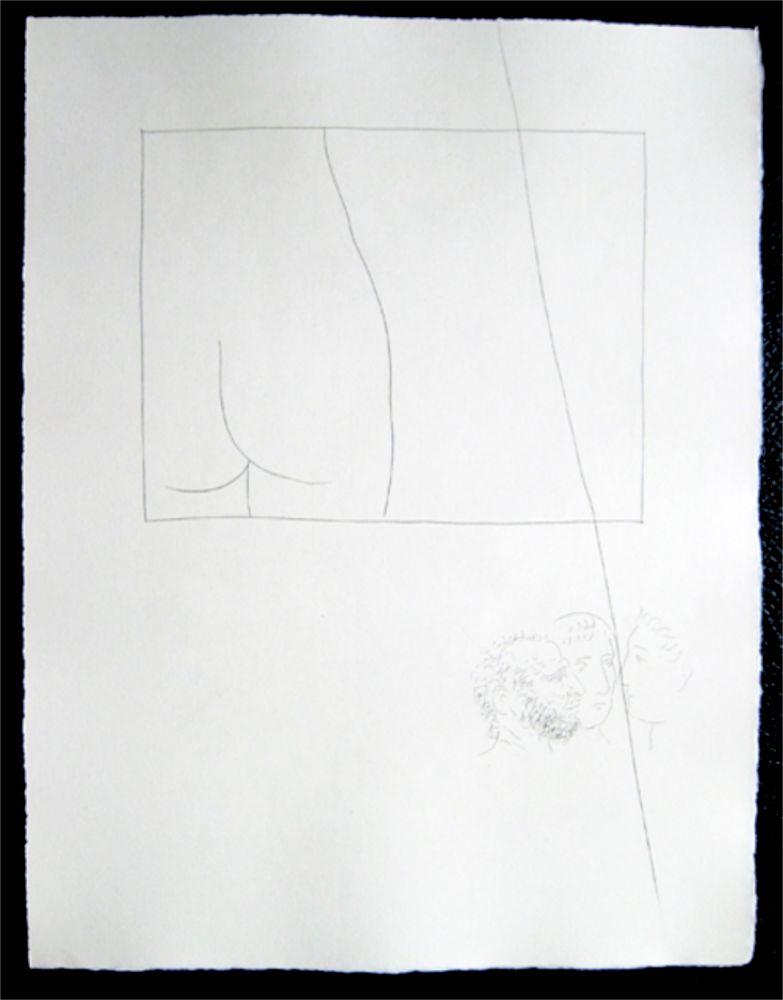 Stich Picasso - Title:Fragment de corps de femme  Fragment of a woman's body