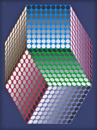 Siebdruck Vasarely - Togonne