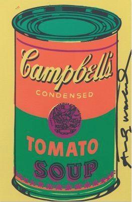 Lithographie Warhol - Tomato Soup Bookplate