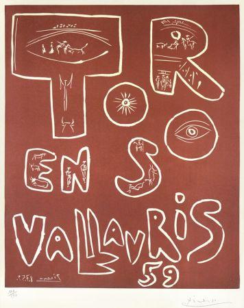 Linolschnitt Picasso - Toros En Vallauris, 1959