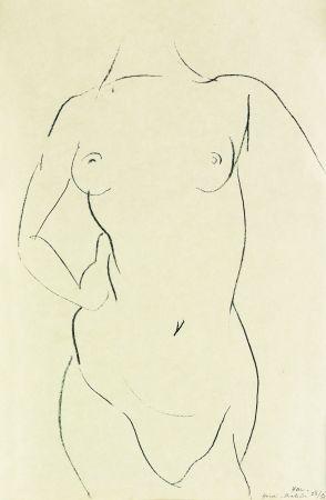 Lithographie Matisse - Torse de face