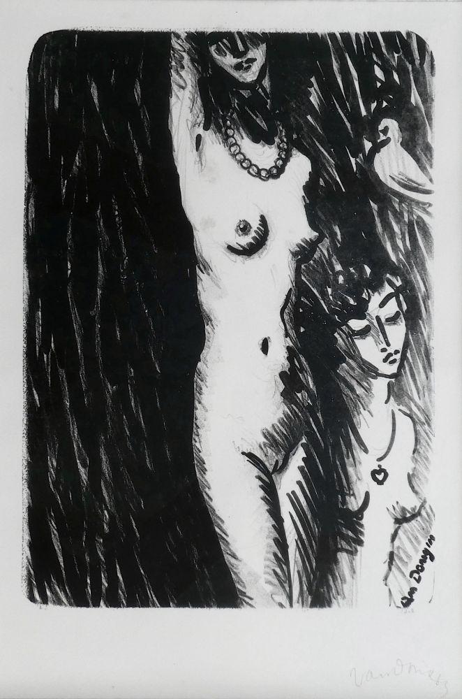 Lithographie Van Dongen - Torso