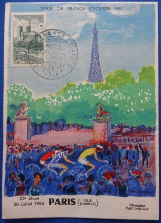 Lithographie Van Dongen - Tour de France 1955