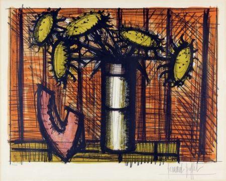 Lithographie Buffet - Tournesol et melon