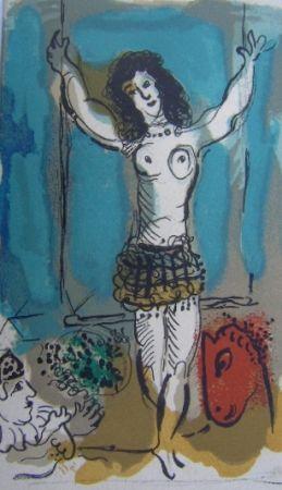 Lithographie Chagall - Trapeziste a l'Oiseau