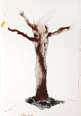Lithographie Dine - Tree Lamp