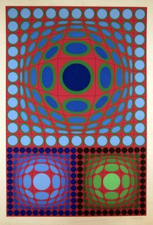 Multiple Vasarely - Tri-Vega