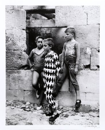 Fotografie Clergue - Trio de Saltimbanques, Arles