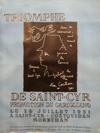 Plakat Cocteau - Triomphe de Saint Cyr - Promotion du Garigliano -
