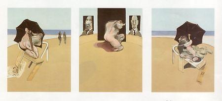 Radierung Und Aquatinta Bacon - Triptych