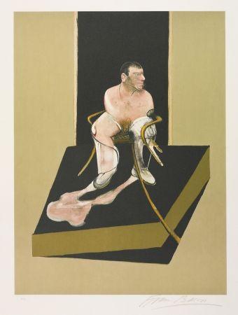 Radierung Und Aquatinta Bacon - Triptych 1986-1987: Study for a portrait of John Edwards (S. 6)