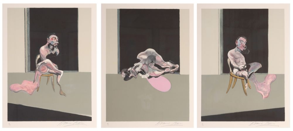Lithographie Bacon - Triptych August 1972