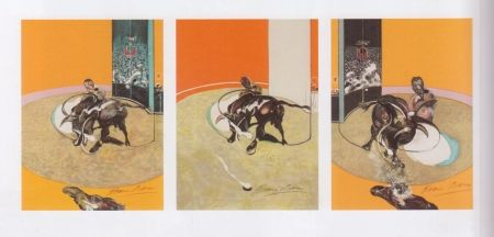 Lithographie Bacon - Triptyque de la Tauromachie