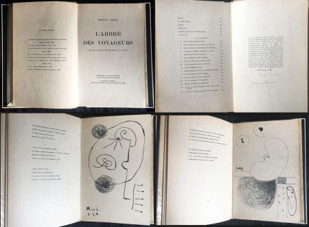Illustriertes Buch Miró - Tristan Tzara. L'ARBRE DES VOYAGEURS. Orné de quatre lithographies de Joan Miró.