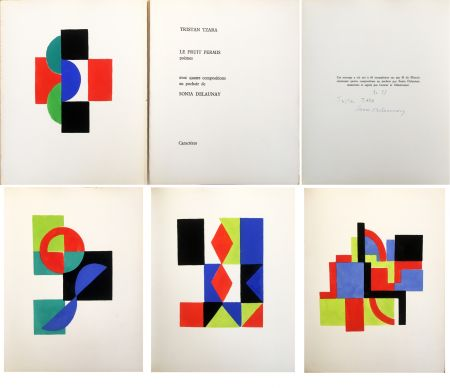 Illustriertes Buch Delaunay - Tristan Tzara. LE FRUIT PERMIS. 4 pochoirs (1956)