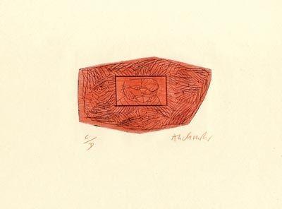 Kaltnadelradierung Alechinsky - Trois petites plaques