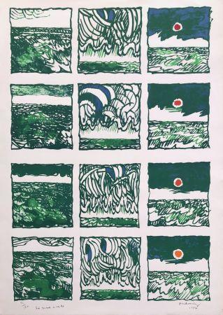 Lithographie Alechinsky - Trois quarts 2 veille
