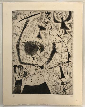 Kaltnadelradierung Miró - Trois Sœurs