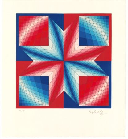 Lithographie Vasarely - Tsillag