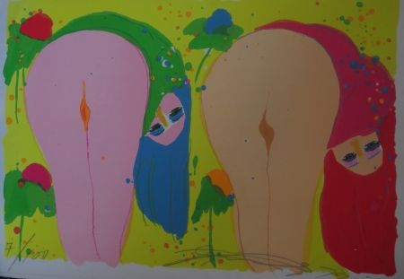 Lithographie Ting - Two Nudes