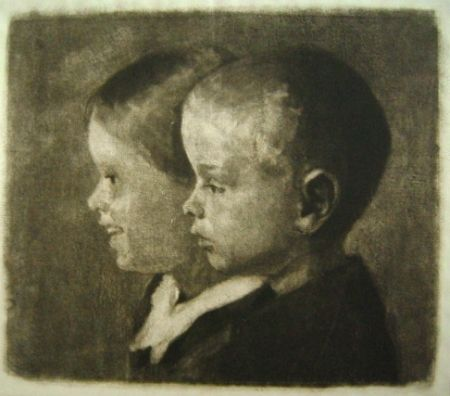 Mezzotinto Ilsted - Two Of The Children Of The Artist