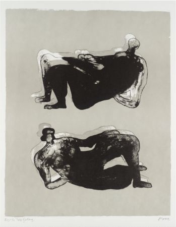 Lithographie Moore - Two Reclining Figures