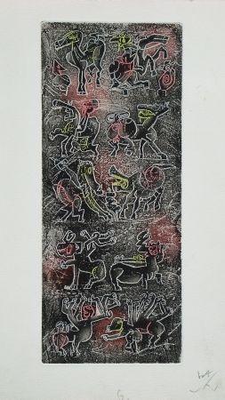 Radierung Und Aquatinta Matta - Ubu Roi (planche 6)