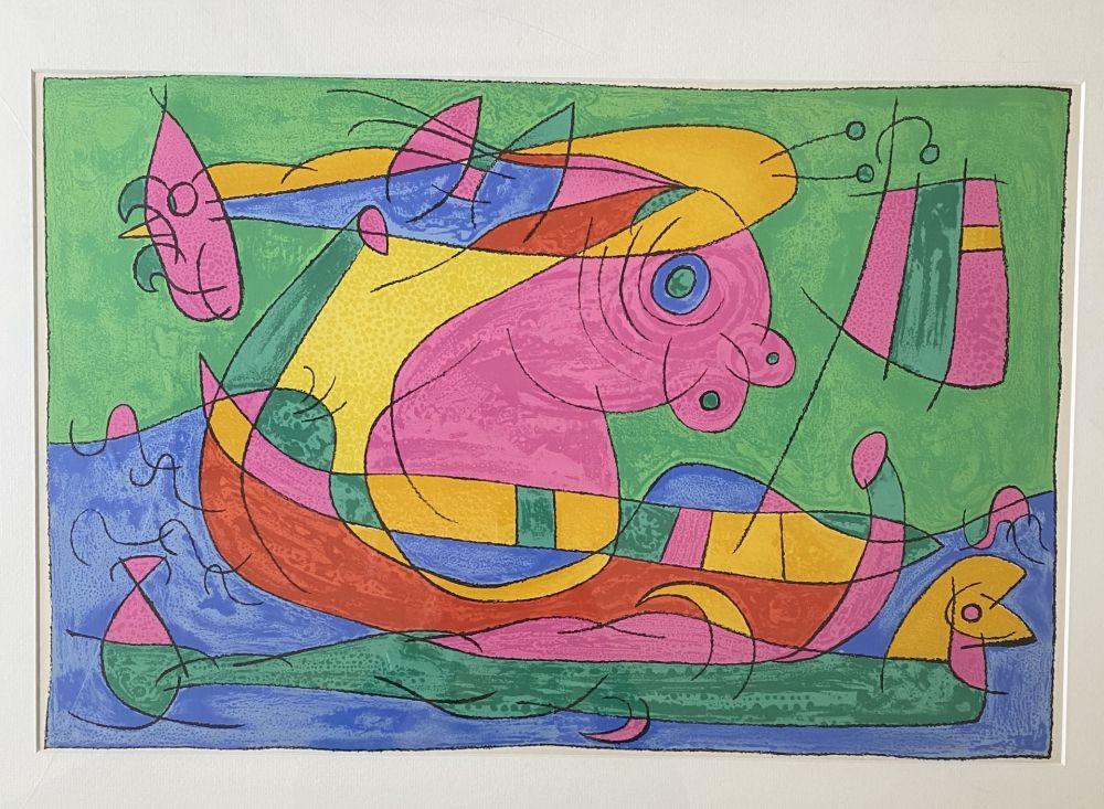 Lithographie Miró - UBU Roi (plate 13)