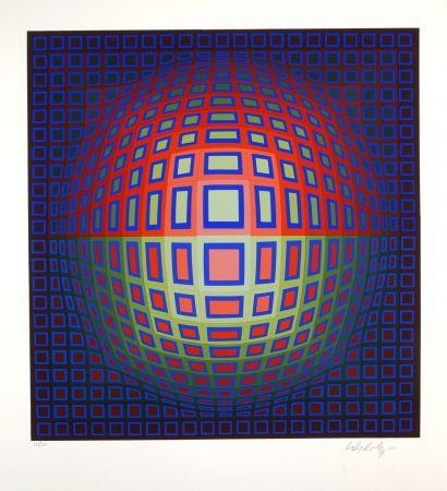 Siebdruck Vasarely - Uj villag
