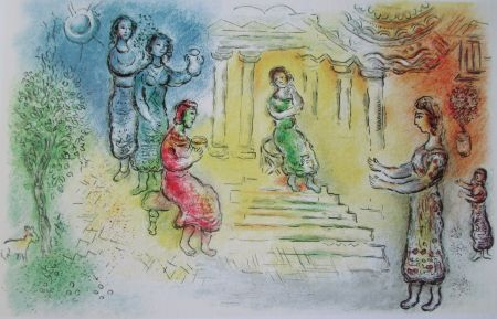 Lithographie Chagall - Ulysse Chez Alkinoiis - L'odyssee Ii
