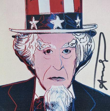Siebdruck Warhol - Uncle Sam