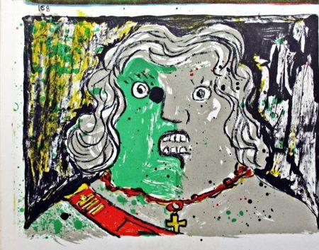 Lithographie Baj - Untitled