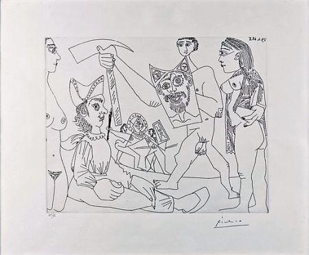 Radierung Picasso - UNTITLED