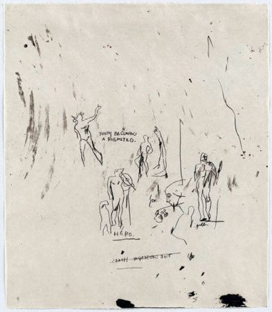 Siebdruck Basquiat - Untitled 5 (from Leonardo)